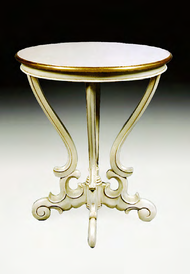 TA021 - Carved Serpentine Wine Table