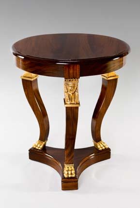 TA1009L - Carved Empire Style Large Accent Table