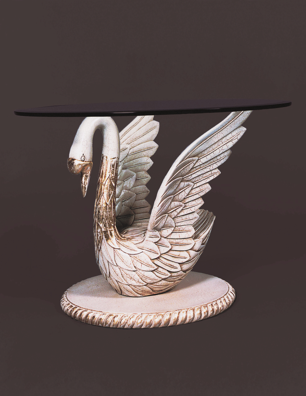 TA2023 - Empire Style Carved Swan End Table