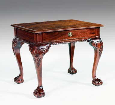 TA3602 - Chippendale End Table with Drawer