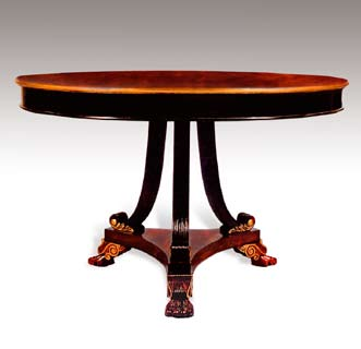 TA418 - Carved Regency Dining Table
