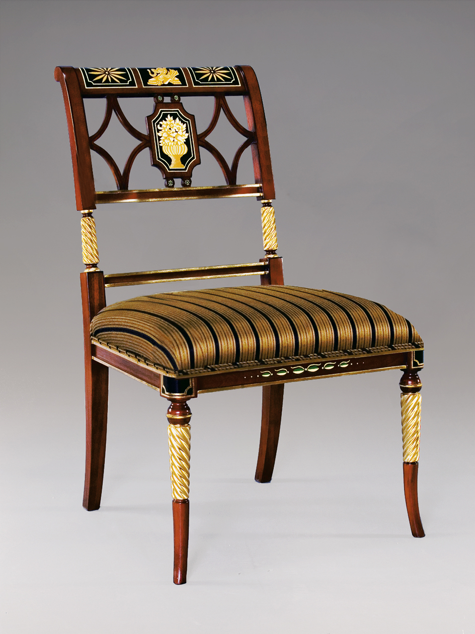 CH6680S - Regency Style Hand Painted Side Chair