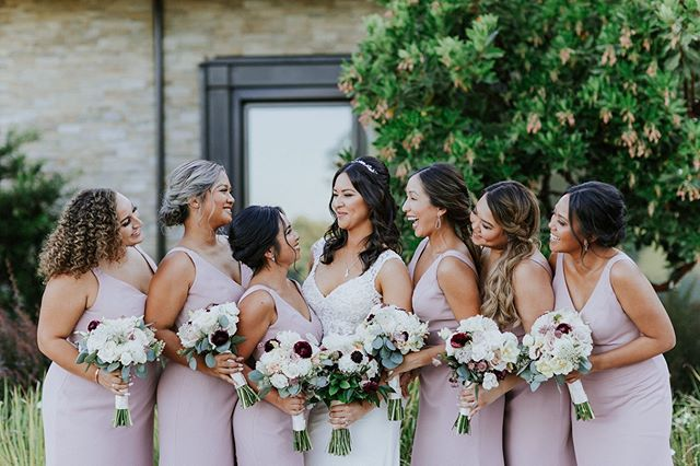 That look you give your bestie on her wedding day!🤩 Hair by Angel, Makeup by Tylar for our beautiful bride, Evangeline!♥️💍🍾 . #muahangelmccoy #muahtylarleonard  Photo by: @kandacephotography