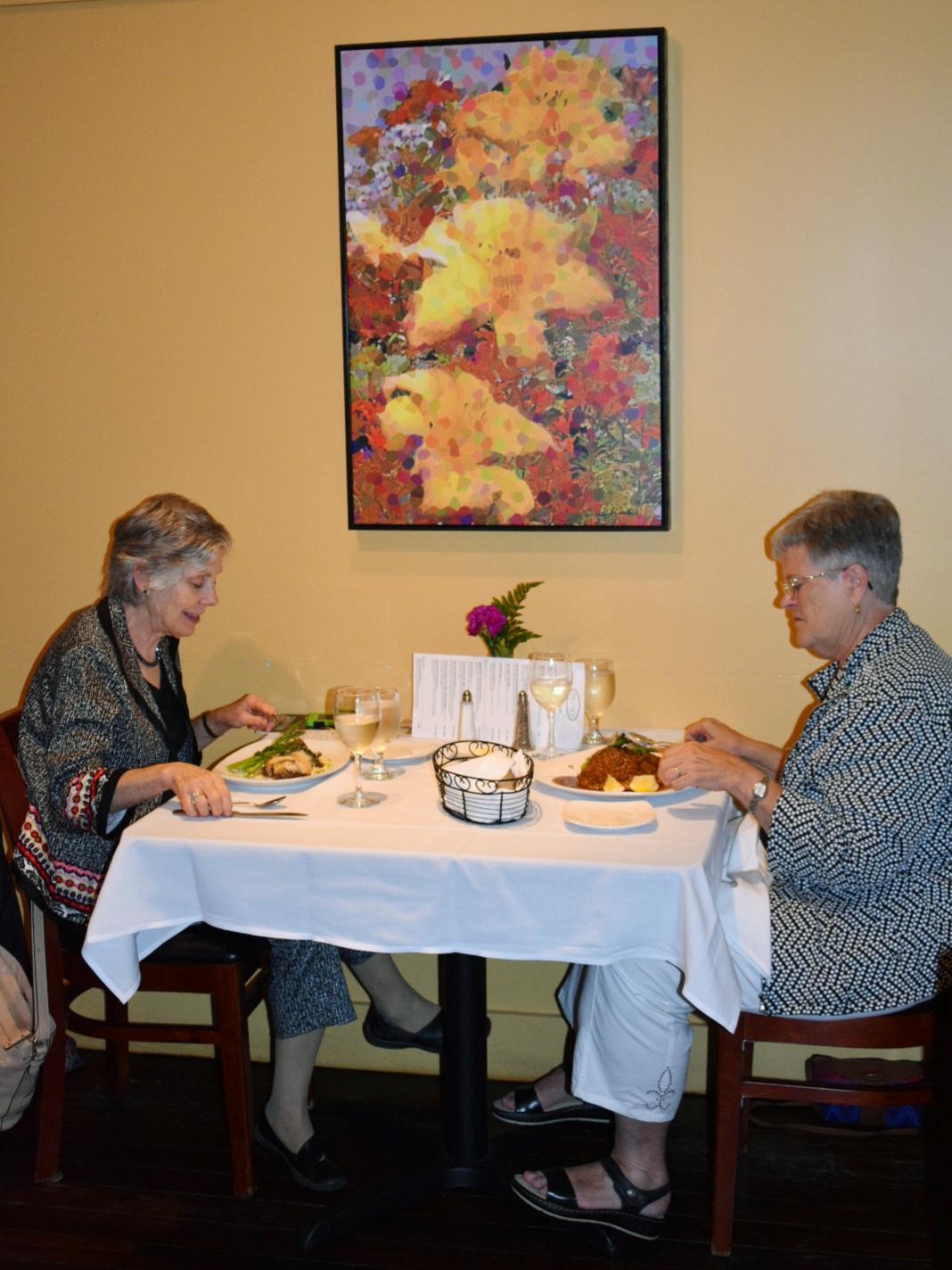 Couple eating dinner at Big Sky Restaurant