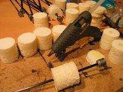 Step #9 - Pre-heat a hot glue gun.