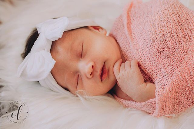 Newborn sessions are so sweet! Just like this sleepy little angel, Carina Rogue! 😍