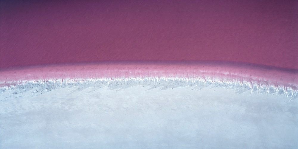 Pink Lake, north-west of Esperance, Western Australia, 1988.