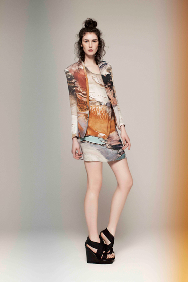 Composite print to fabric, by Sara Phillips, Winter 2012 Collection