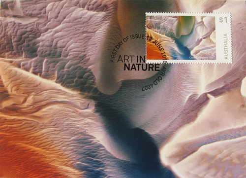 'Art in Nature' series of $1 stamps, 2018, Australian Postal Coorporation, Andrew Hogg Design.