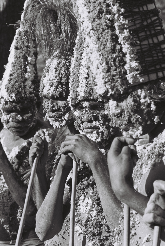 Halls Creek ceremonial dancers, Festival of Perth, Subiaco WA, c.1970