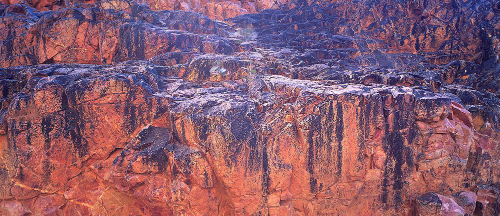Rockface in central Australia.
