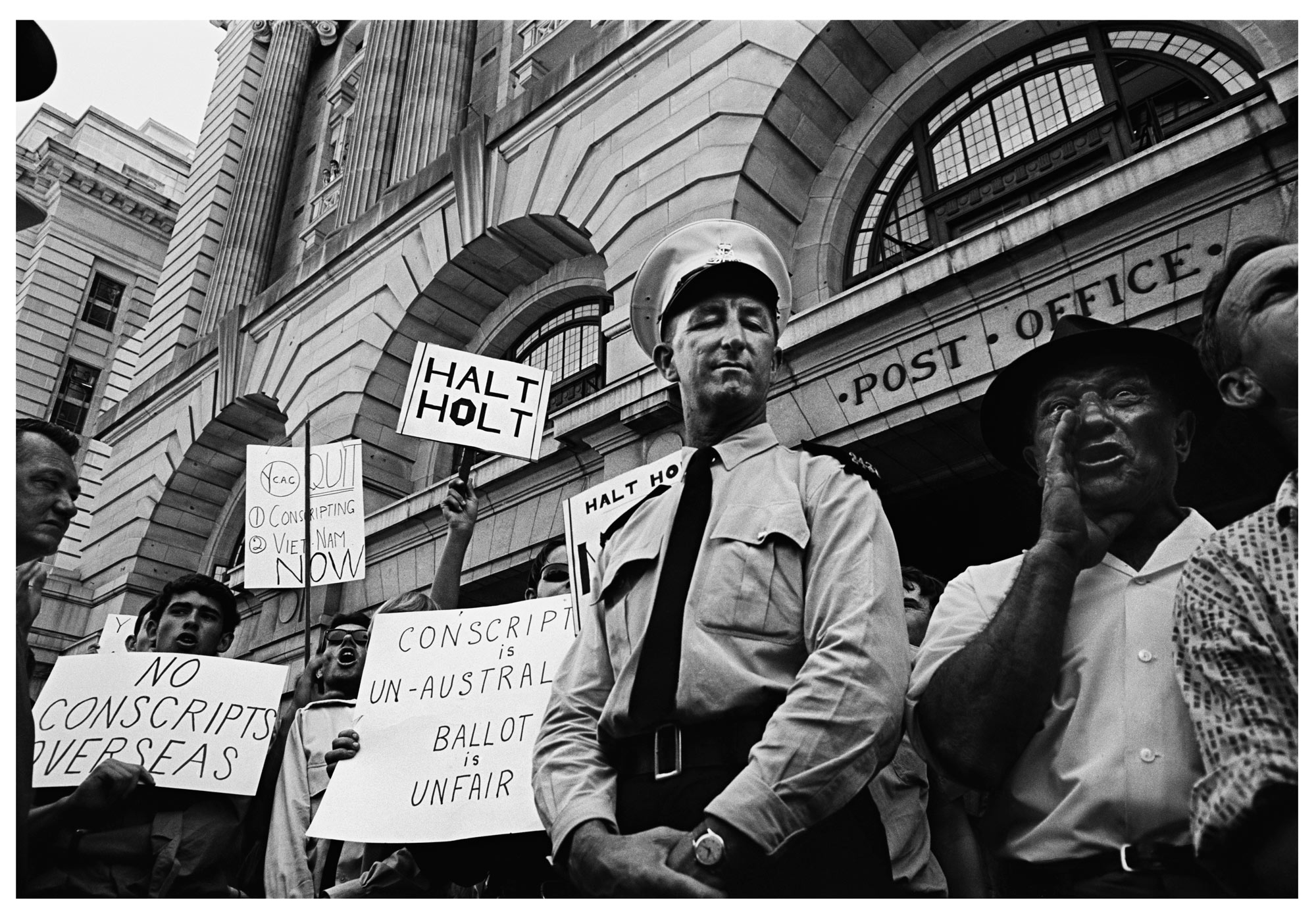 Protest, Forrest Place, Perth WA, 1966