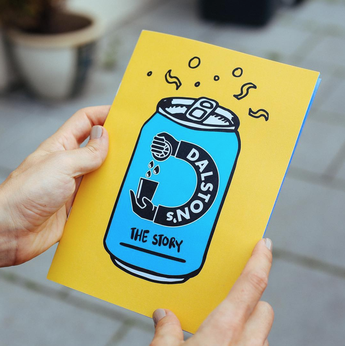 cover of printed brand booklet