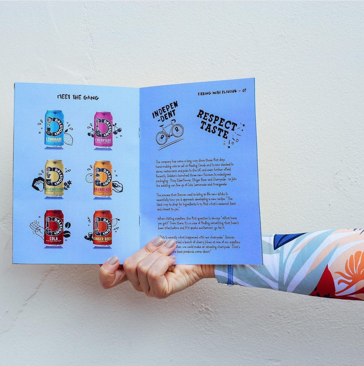inside printed brand booklet