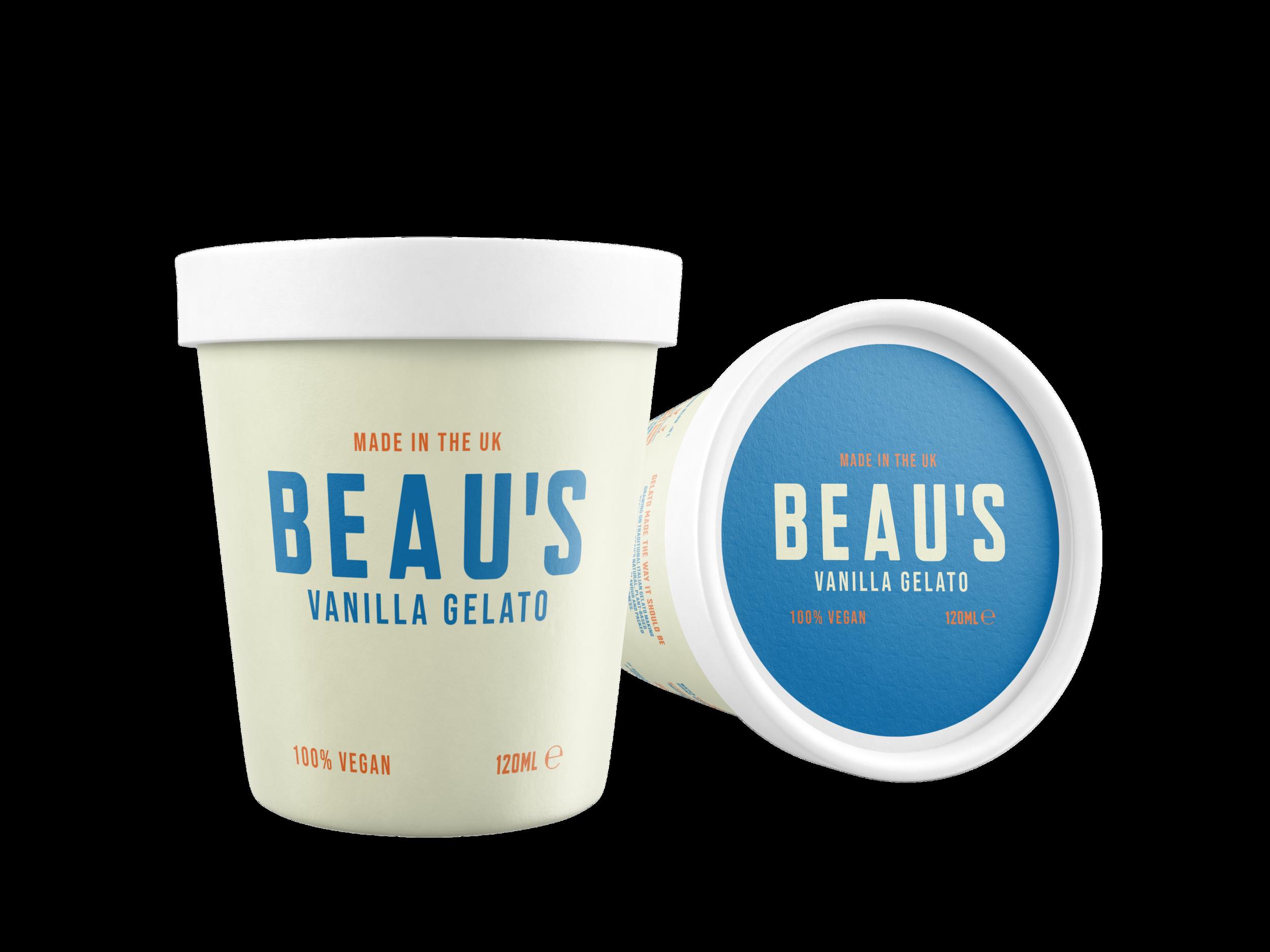 Beau's Vanilla 120ml tub design