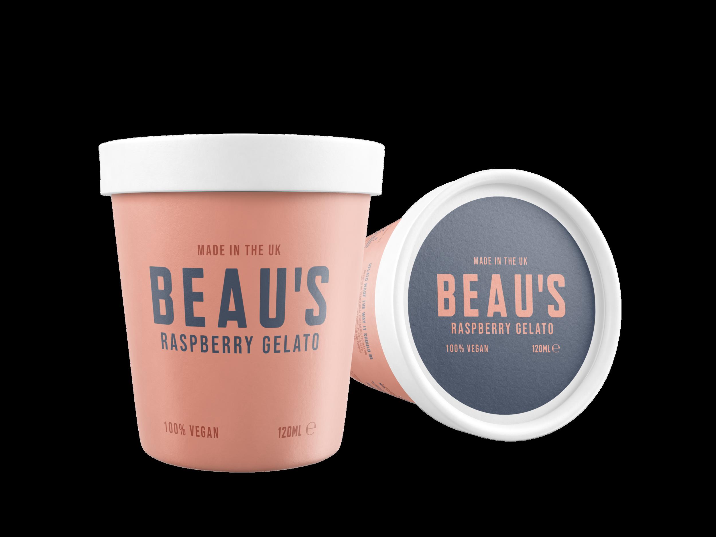 Beau's Coffee 120ml tub design