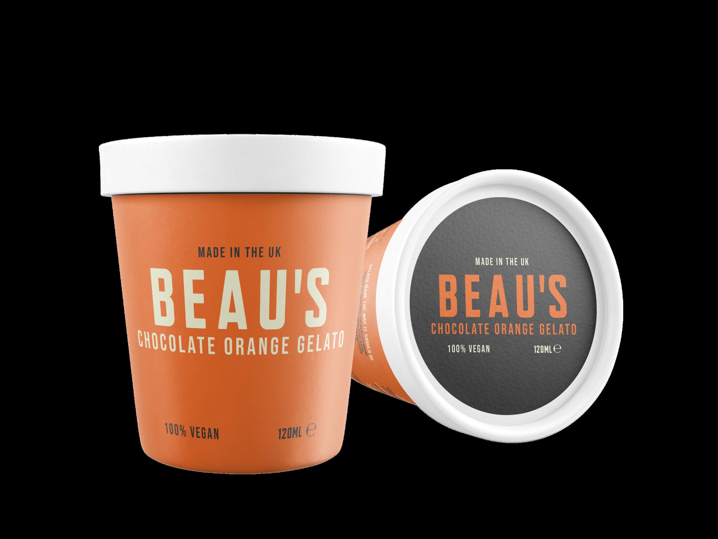 Beau's Chocolate Orange 120ml tub design