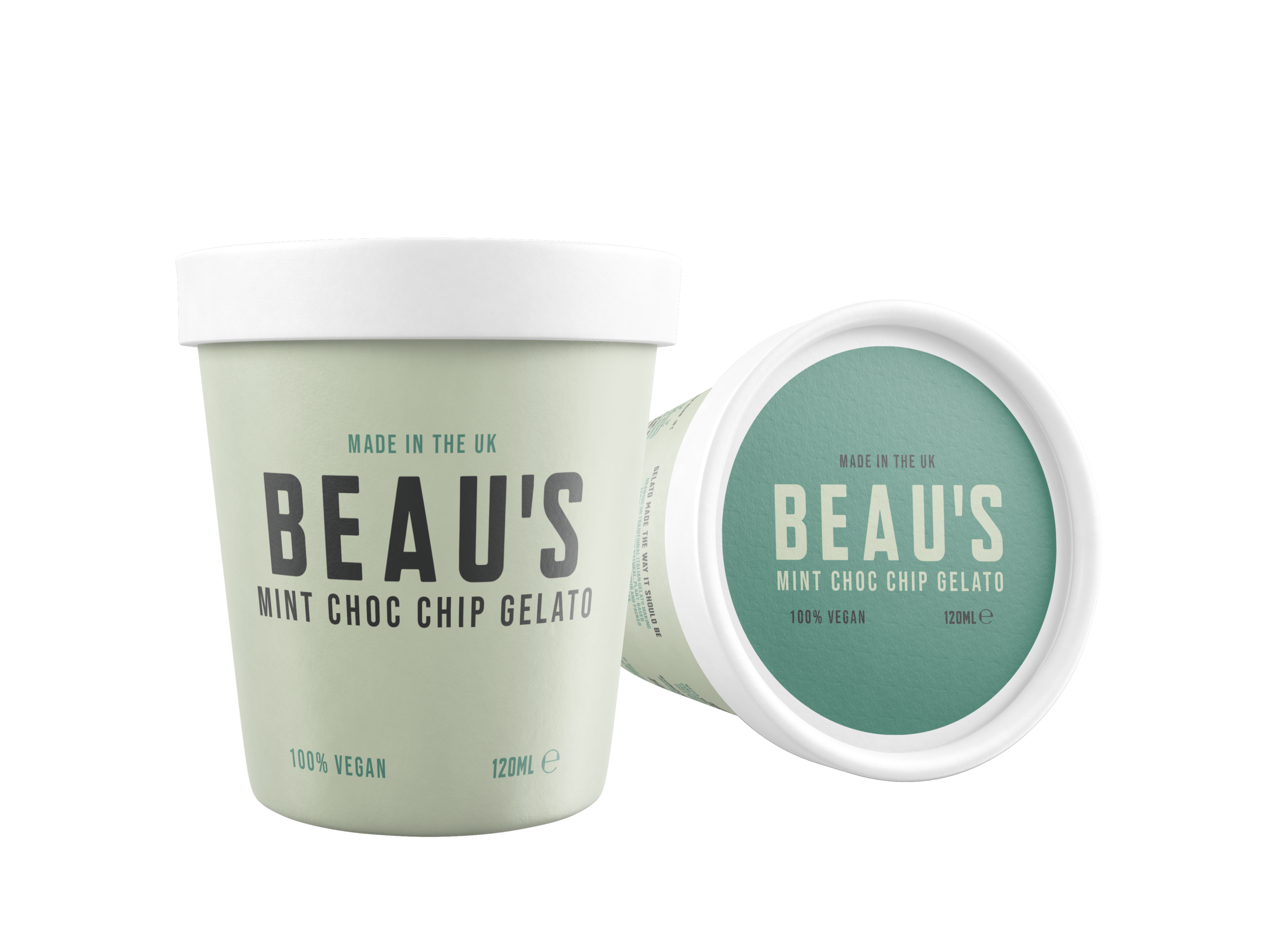 Beau's Mint Choc Chip 120ml tub design