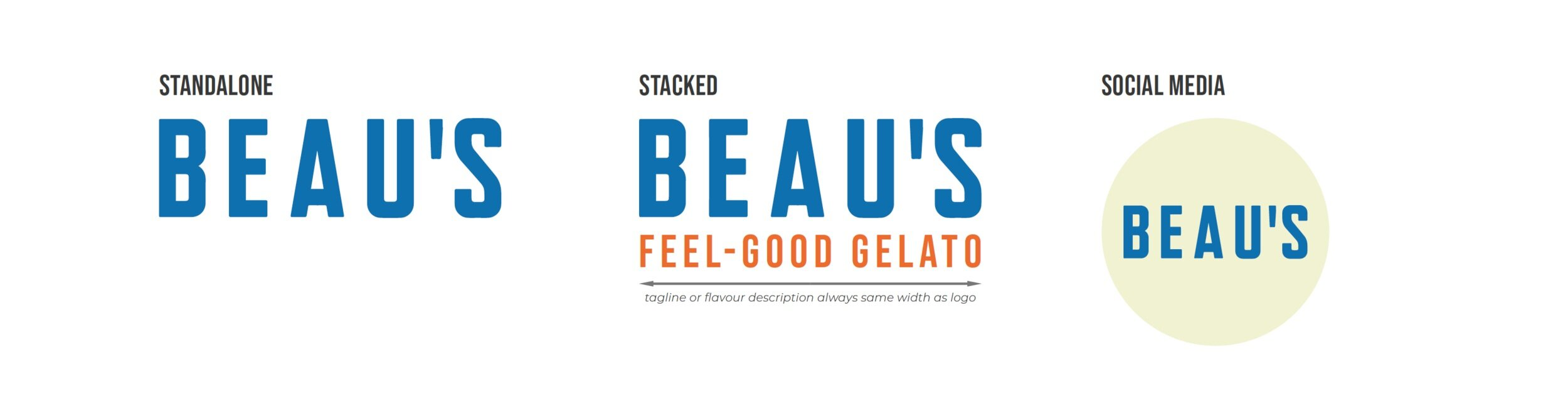 Beau's Final Logo Designs