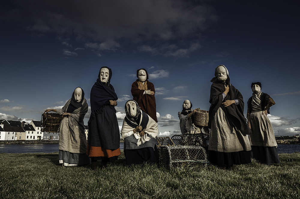 Fisherwoman, Fisherwoman, Sell me your Trout! - We are uber excited to share our wears with Galway this coming Sunday, Sept 30th at 3pm! We will be weaving our way through the Claddagh to the Spanish Arch and hope you'll join us. The FISHERWIVES is a collaboration between Galway 2020, APT (Berlin) Galway City Museum and Claddagh Community School. Photo:Julia Dunin