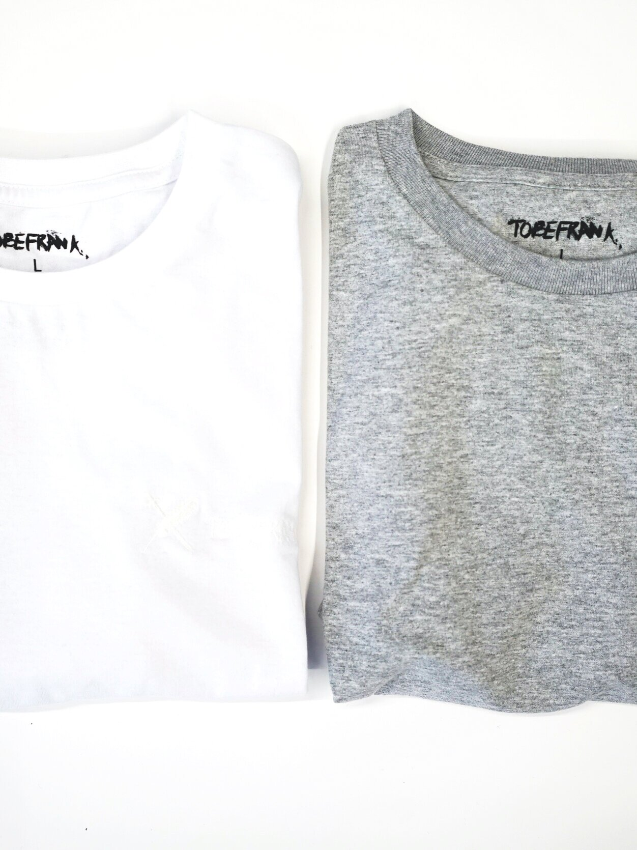 WOMENS 2 PACK 100% RECYCLED LONG SLEEVE - GREY/WHITE from TOBEFRANK
