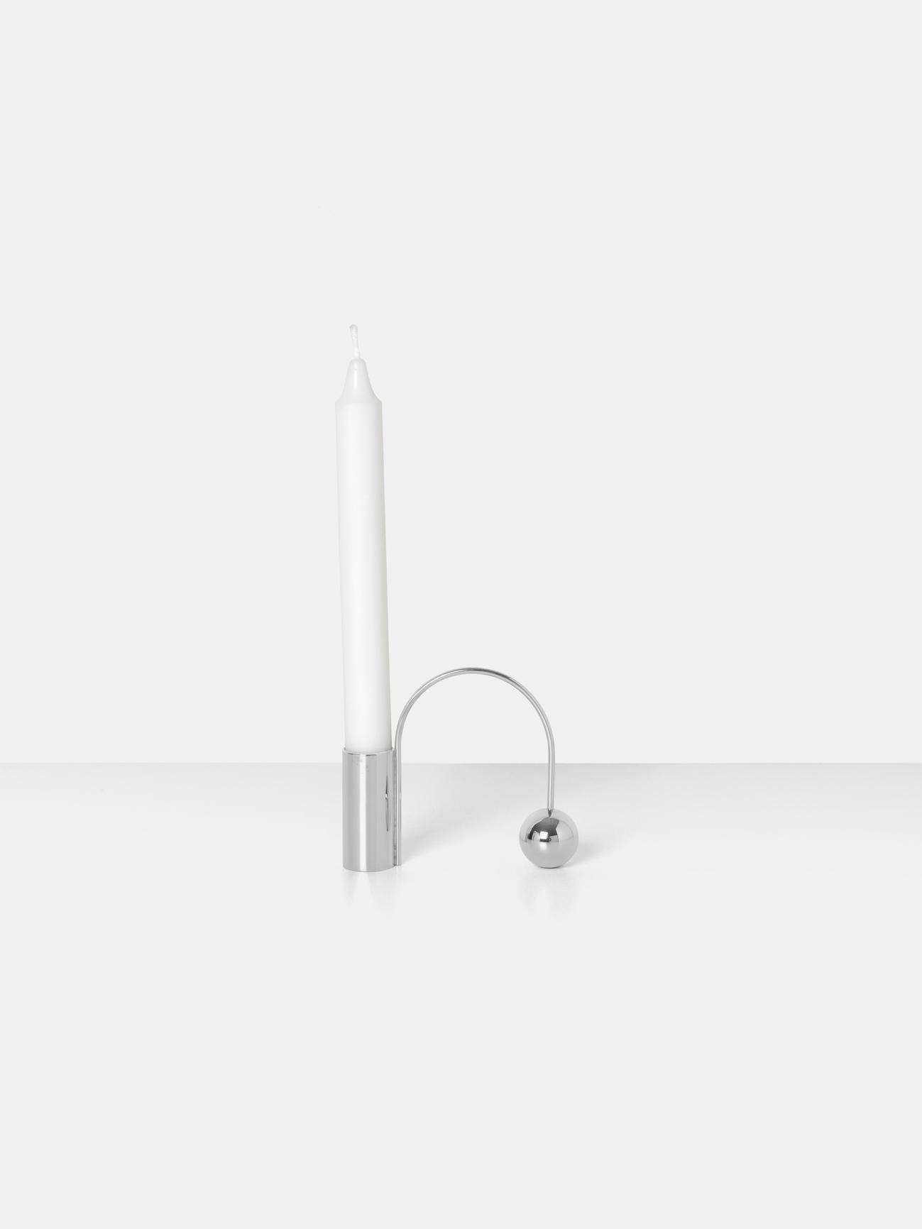 Ferm Living - Balance Candleholder (Chrome)