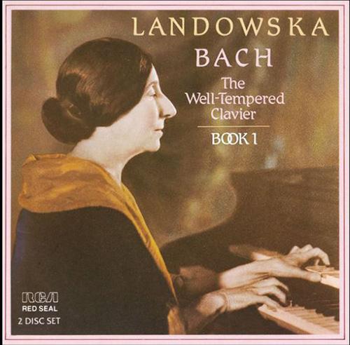 """1949年年,蘭多芙斯卡在RCA公司錄製出品的巴赫""""平均律鍵盤曲集""""第一卷,使用了她自己發明的樂器演奏"""