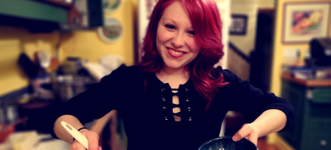 My daughter, Reveena, host of Reveena's Kitchen.