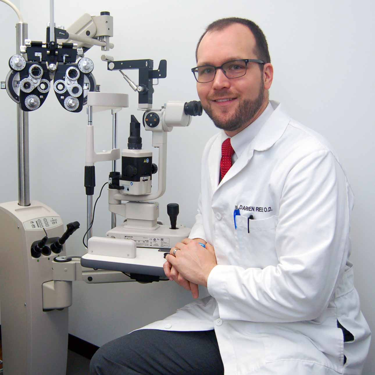 Dr. Darren Reed specializes in eye care for your whole family.