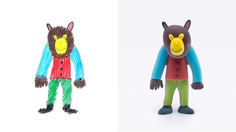 Drawing: Simcha, age 10 | Design: Dafi Rice Doron