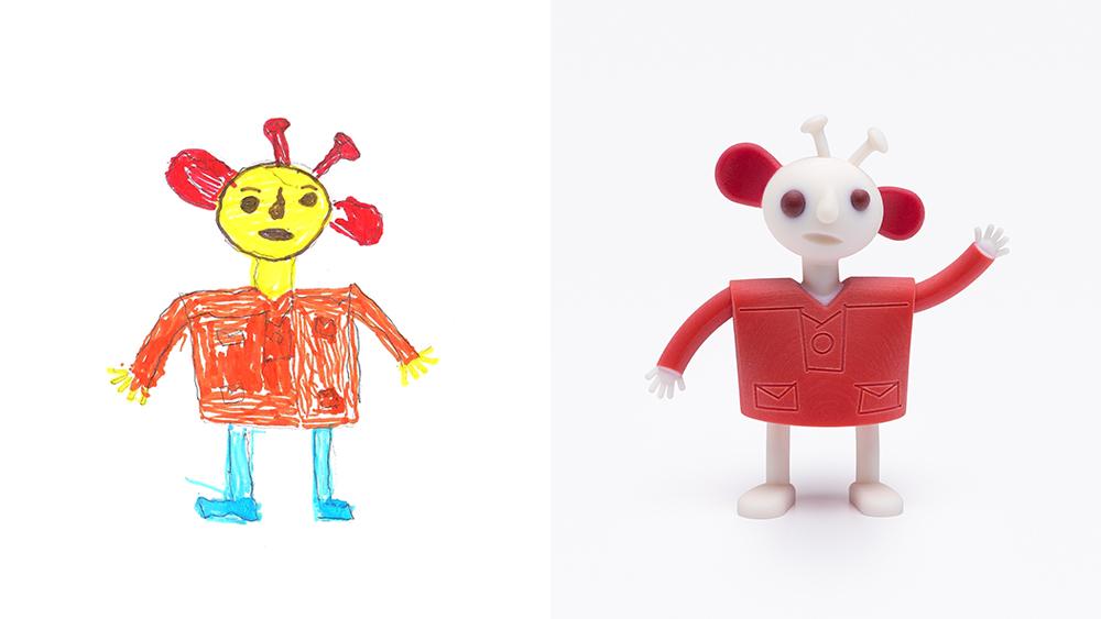 Drawing: Mays, age 6 | Design: Reddish