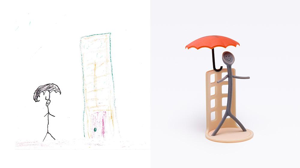 Drawing: Halla, age 7 | Design: Taga