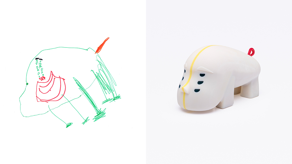 Drawing: Roee, age 6 | Design: Shahar Nisim