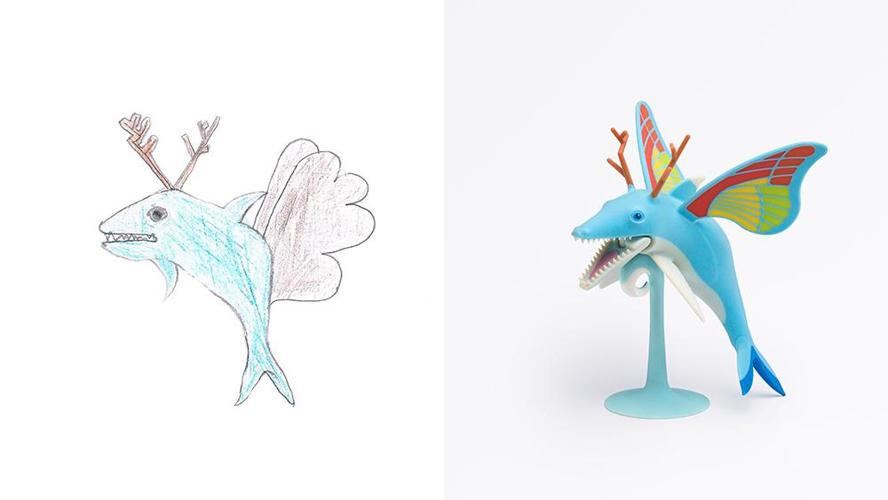 Drawing: Yonathan, age 7 | Design: Nir Applebaum