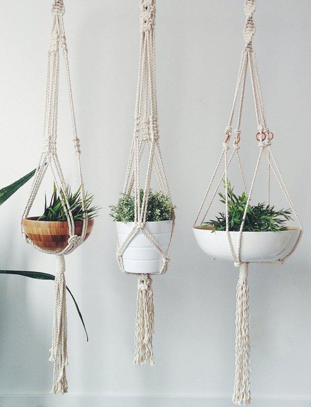 freefille macrame plant hanger