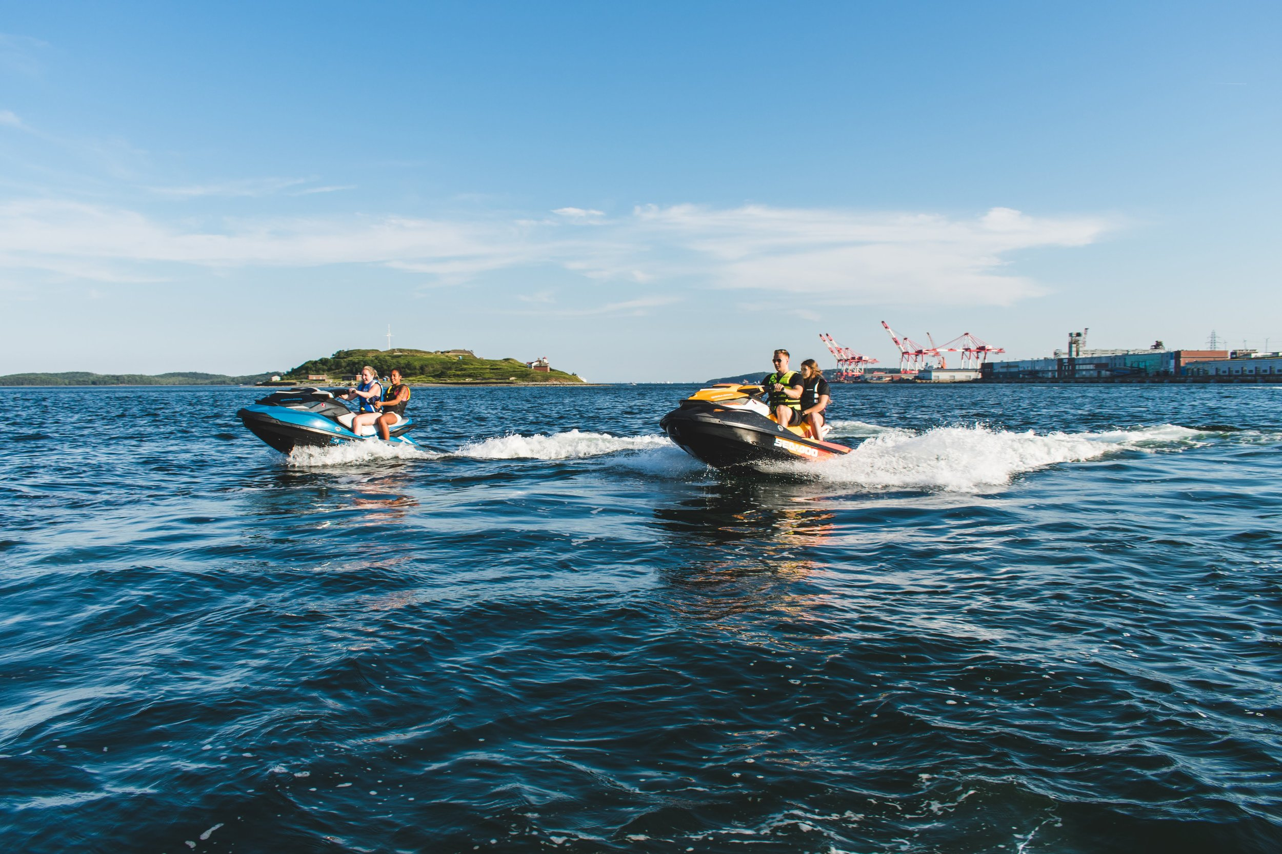 Looking for more of an experience? Take the Harbour Tour! - Tour around Georges Island, McNabs Island, the Halifax Waterfront and the Bedford basin with your family & friends, and learn about Halifax along the way!