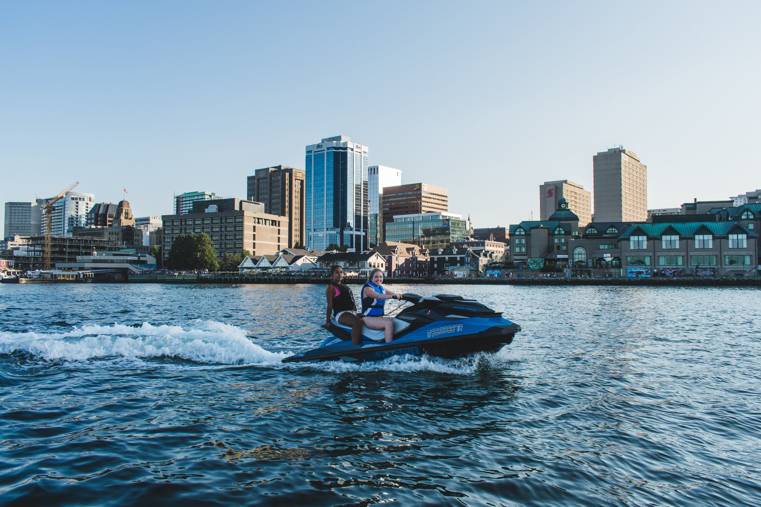 Want to tour the Halifax harbour at your own pace? - Rent a Sea-Doo, and take your own scenic tour of Georges Island, McNabs Island, the Halifax Waterfront and the Bedford Basin, or just zip through the waves. It's up to you! The harbour is YOURS!