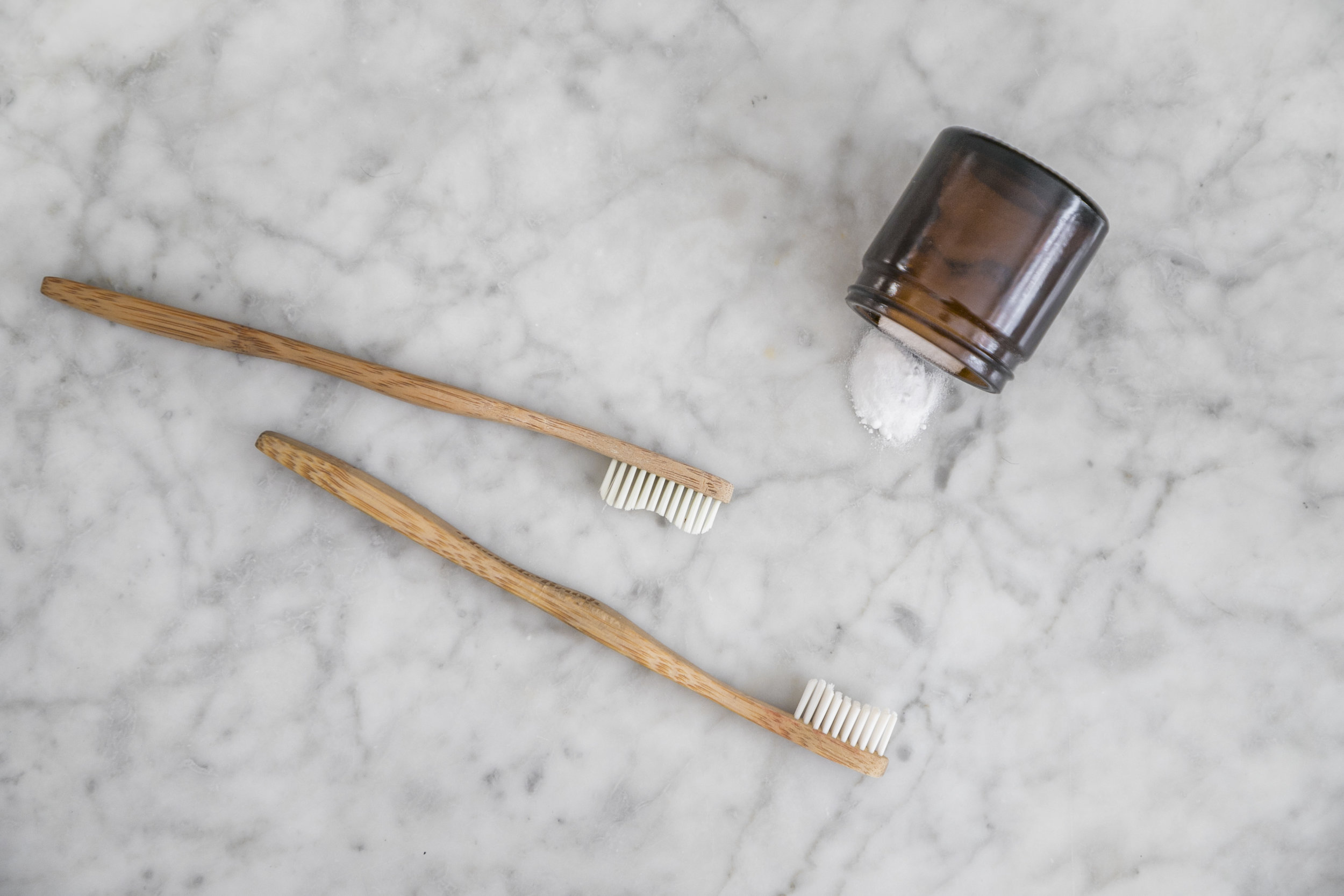 Compostable Bamboo toothbrushes and homemade toothpaste