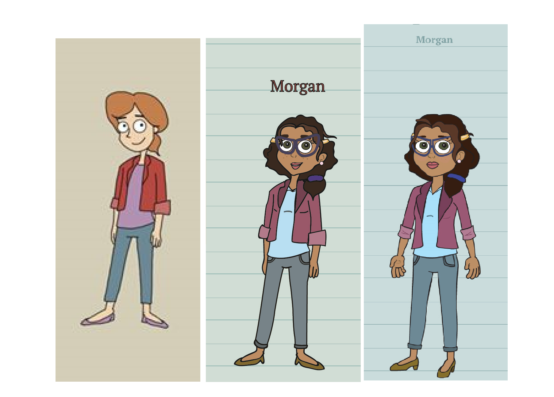 Evolution of Morgan's character design