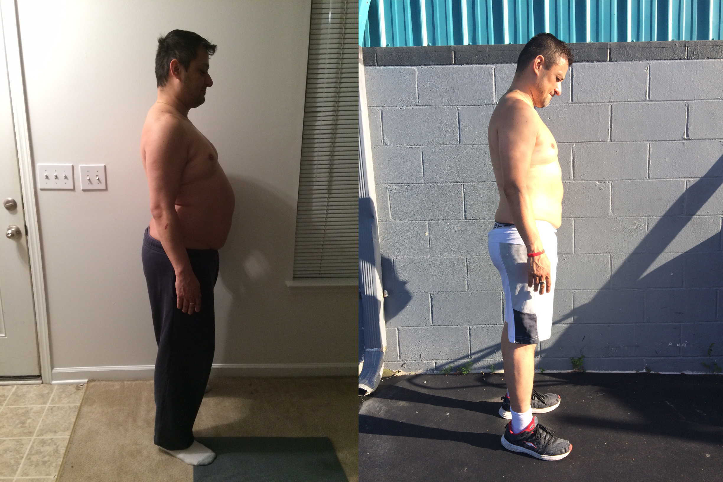 a holy city fitness client - before / after - 40lbs down