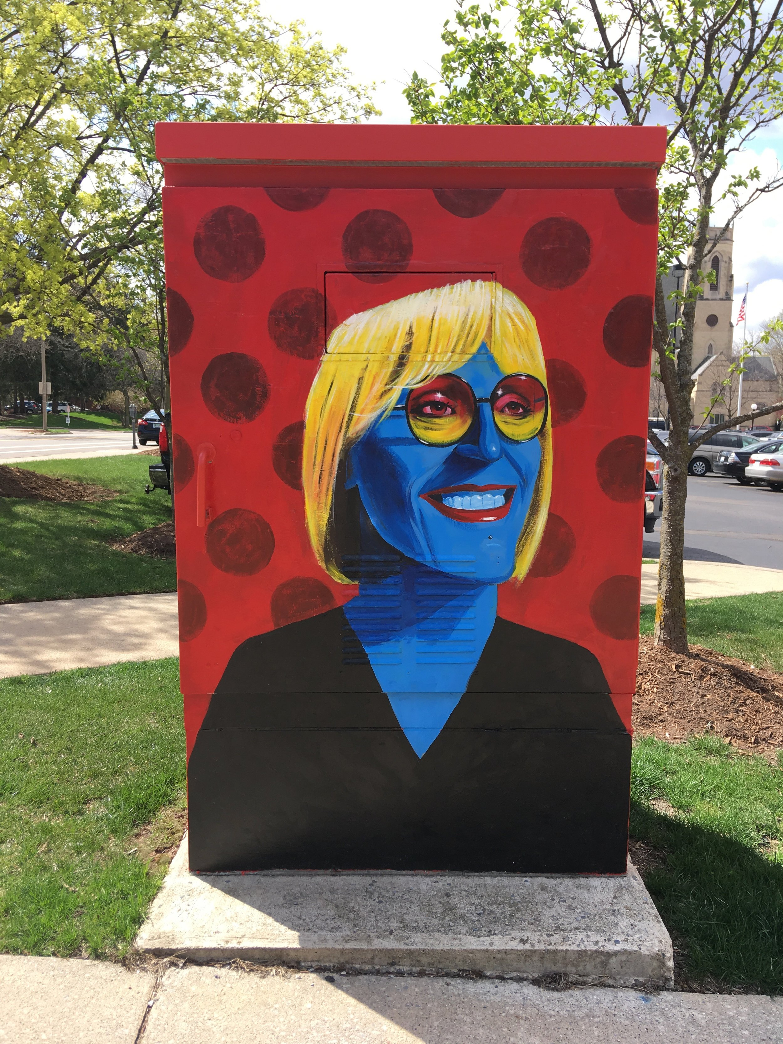 Mural of Kate Bornstein for Downtown Grand Rapids, Inc.'s Rad Women A-Z project - 2019 - acrylic