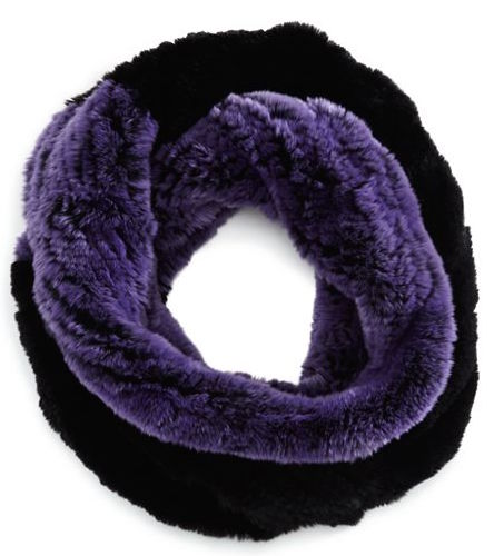 Bloomingdales rabbit fur scarf