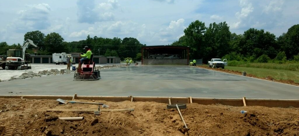 Concrete Pad For RV Building