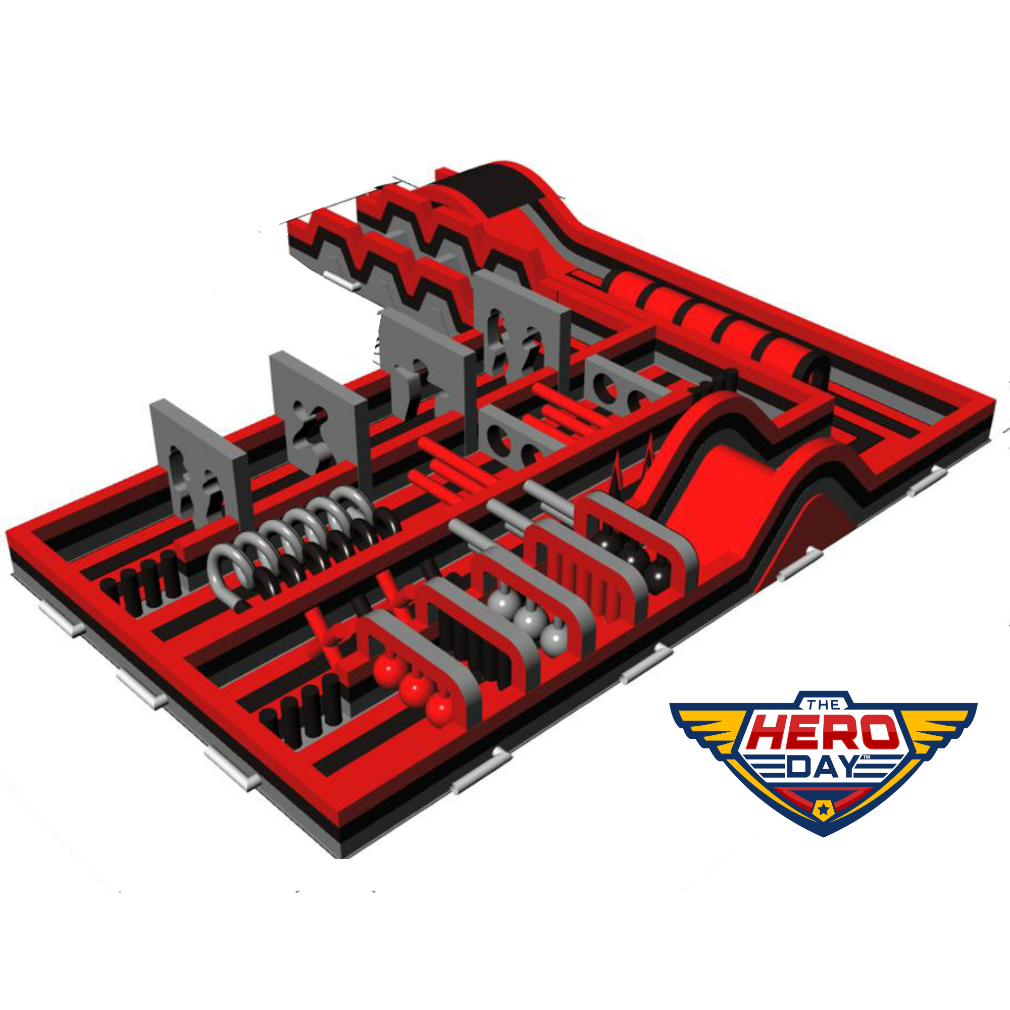 Coming Winter 2019 All New Obstacle Course Size: 75'-60'