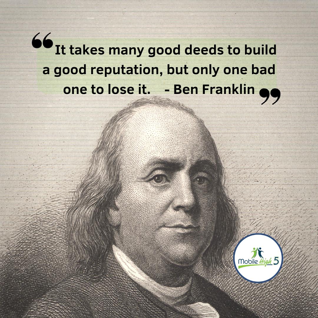 Ben Franklin weighs in on reputation