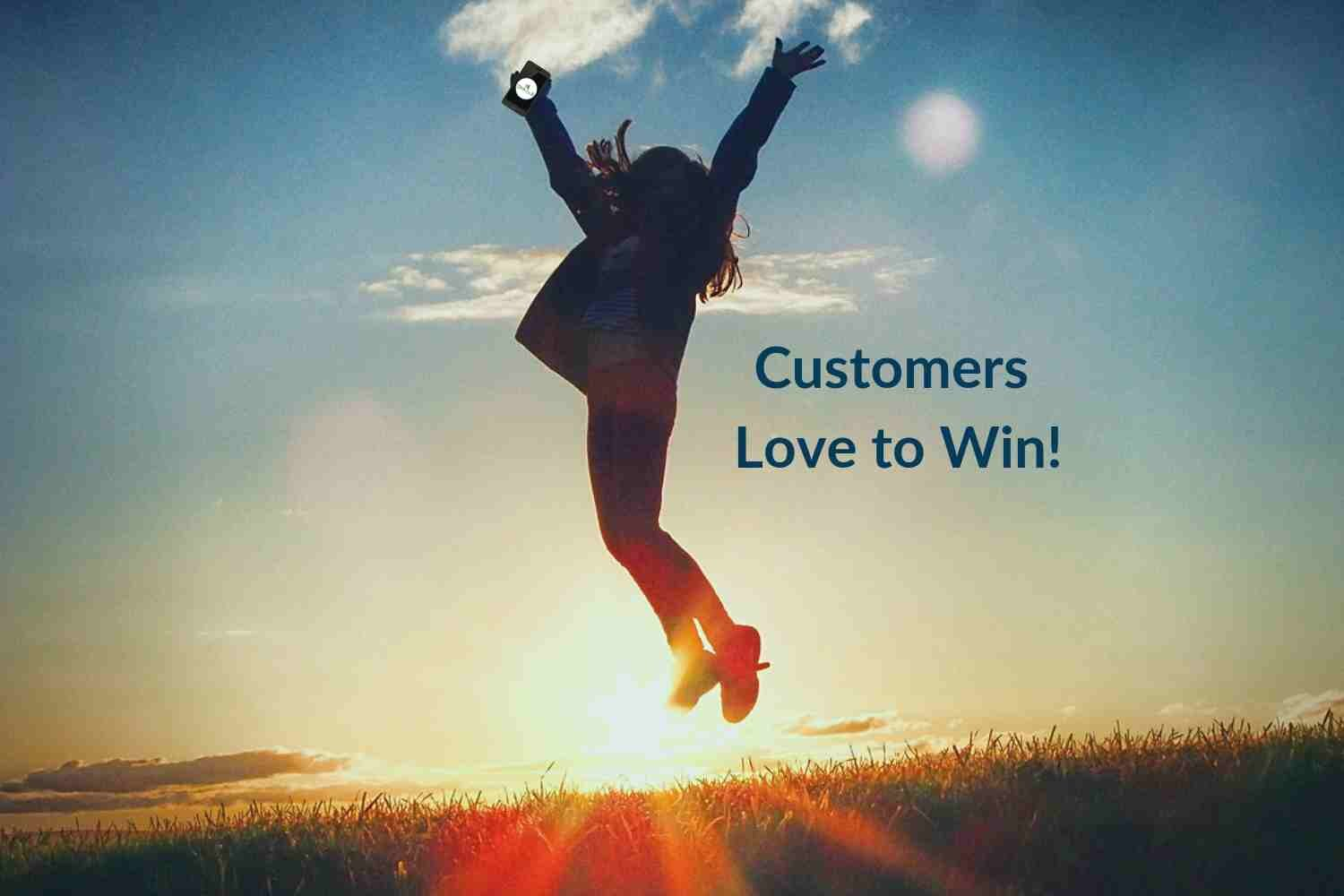 Monthly Sweepstakes keep customers engaged.