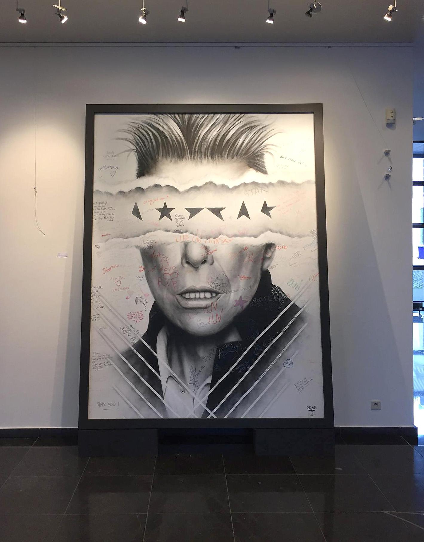 NOIR artist mural - Sony Music Belgium - David Bowie