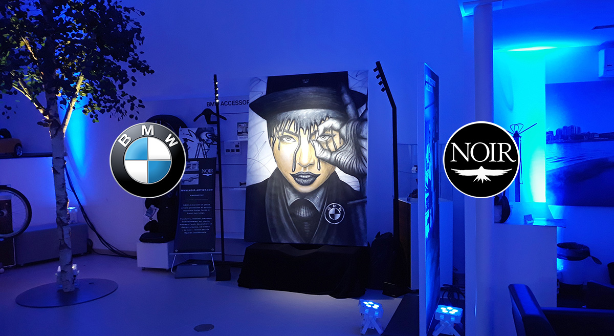 NOIR artist Live painting - BMW event
