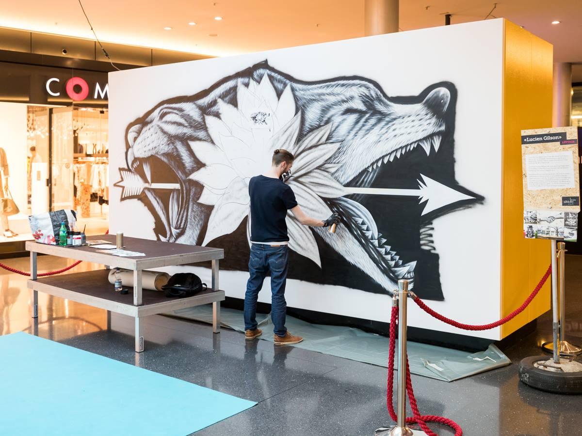 Noir artist mural - Zurich