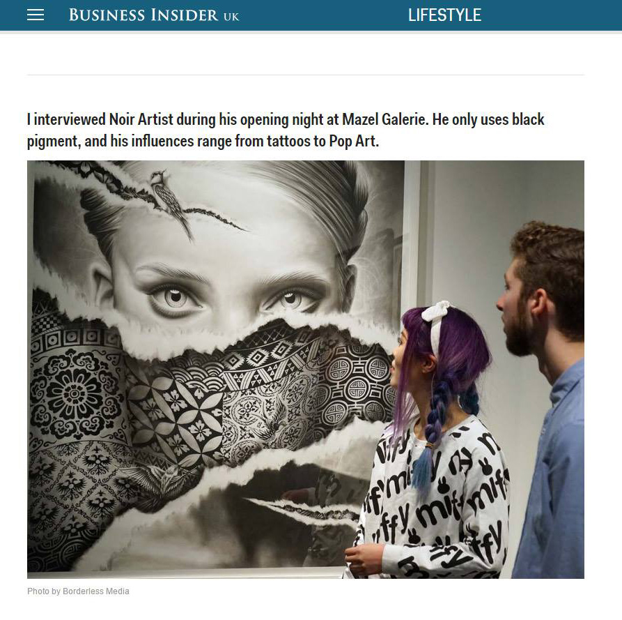 business insider magazine - NOIR artist
